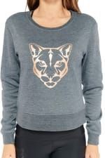 Kendall Panther Sweater - Gunmetal - Detail
