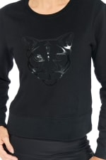 Kendall Panther Sweater - Black - Detail