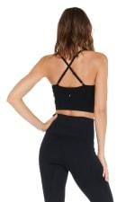 Elle Long Bra - Black - Back