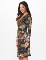 Etched Plaid Wrap Dress - 10