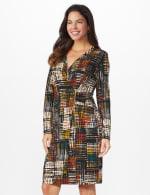 Etched Plaid Wrap Dress - 12