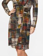 Etched Plaid Wrap Dress - 11