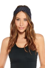 All Over Bolt Headband - Black / Gunmetal - Front