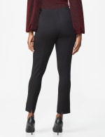Ponte Pull On  Ankle Pant - Black - Back