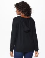 Roz & Ali Believe Hoodie Sweater - Black - Back
