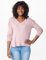 Roz & Ali Lurex Believe Hoodie Sweater - 12