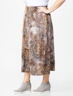 Plus Roz & Ali Printed Hacci A-Line Maxi Skirt - 4