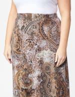 Plus Roz & Ali Printed Hacci A-Line Maxi Skirt - 5