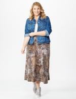 Plus Roz & Ali Printed Hacci A-Line Maxi Skirt - 6