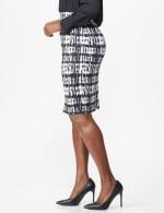 Printed Scuba Crepe Pencil Skirt - 4