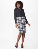 Printed Scuba Crepe Pencil Skirt - 7