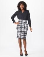 Printed Scuba Crepe Pencil Skirt - 6