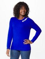Roz & Ali Rhinestone Pullover Sweater - 6