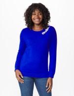 Roz & Ali Rhinestone Pullover Sweater - 7
