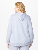 DB Sunday Embellished Drawcord Hoodie - Plus - Grey - Back