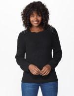 Scallop Neck Jewel Pullover - 1