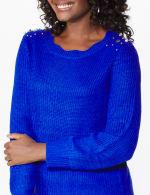 Westport Scallop Neck Jewel Pullover - 10