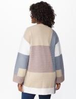 Westport Color Block Cardigan - Neutral Combo - Back