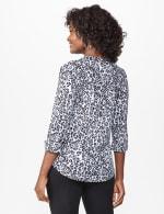 Roz & Ali Animal Pintuck Popover - Misses - Grey Charcoal/Black - Back