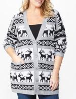 Westport Fair Isle Reindeer Duster Cardigan - Plus - 5