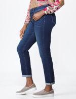 Westport Signature  Girlfriend/Boyfriend 5 Pocket Jean with Double Rolled Cuff - 4