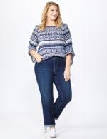 Plus Westport Signature Girlfriend/Boyfriend 5 Pocket Jean with Double Rolled Cuff - Plus - 5