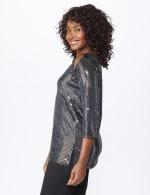 Roz & Ali Velvet Shimmer Dot Tunic Knit Top - 3