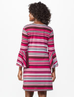 Marina Stripe Soft Knit Dress - Misses - Multi - Back