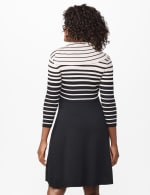 Split Cowl Sweater Dress - Misses - Beige/Black - Back