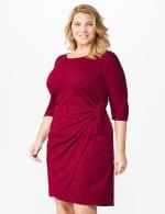 Glitter Knit Wrap Dress  - Plus - 12