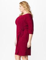 Glitter Knit Wrap Dress  - Plus - 10