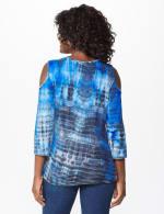 Westport Tie Dye Knit Top - Blue - Back