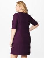 Ribbed Bandage Dress - Plus - Bordeaux - Back