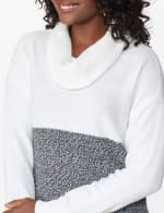 Westport Colorblock Cowl Neck Curved Hem Sweater - 5