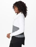 Westport Colorblock Cowl Neck Curved Hem Sweater - 4