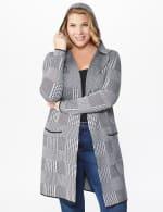 Roz & Ali Houndstooth Sweater Coat - Plus - 5