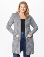 Roz & Ali Houndstooth Sweater Coat - Plus - 6
