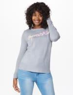 Roz & Ali Sparkle Pullover Sweater - 7