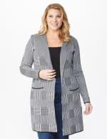 Roz & Ali Houndstooth Sweater Coat - Plus - 7
