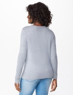 Roz & Ali Sparkle Pullover Sweater - Heather Grey - Back