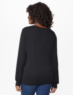 Roz & Ali Pearl Cardigan - Black - Back
