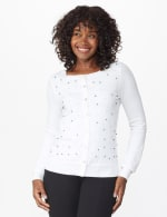 Roz & Ali Pearl Cardigan - Ivory - Front