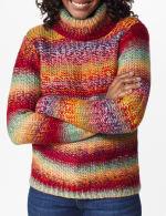 Roz & Ali Ombre Pullover Sweater - 5