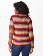 Roz & Ali Ombre Pullover Sweater - Multi - Back