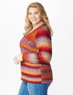 Roz & Ali Ombre Pullover Sweater - Plus - 4