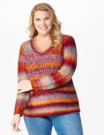 Roz & Ali Ombre Pullover Sweater - Plus - 7