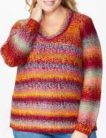 Roz & Ali Ombre Pullover Sweater - Plus - 5