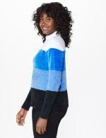 Roz & Ali Chenile Colorblock Pullover Sweater - 9