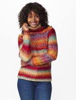 Roz & Ali Ombre Pullover Sweater - Multi - Front