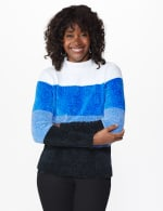 Roz & Ali Chenile Colorblock Pullover Sweater - 11